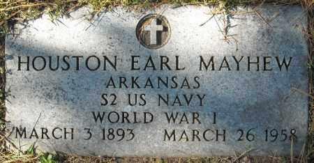 MAYHEW  (VETERAN WWI), HOUSTON EARL - Faulkner County, Arkansas | HOUSTON EARL MAYHEW  (VETERAN WWI) - Arkansas Gravestone Photos