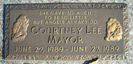 MAYOR, COURTNEY LEE - Faulkner County, Arkansas | COURTNEY LEE MAYOR - Arkansas Gravestone Photos