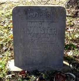 "MCALISTER, NANCY ELIZABETH ""LIZZIE"" - Faulkner County, Arkansas   NANCY ELIZABETH ""LIZZIE"" MCALISTER - Arkansas Gravestone Photos"