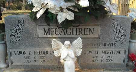 MCCAGHREN (VETERAN WWII), AARON D. FEDERICK - Faulkner County, Arkansas   AARON D. FEDERICK MCCAGHREN (VETERAN WWII) - Arkansas Gravestone Photos