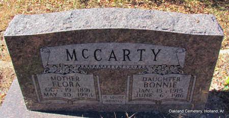 MCCARTY, FLORA - Faulkner County, Arkansas | FLORA MCCARTY - Arkansas Gravestone Photos