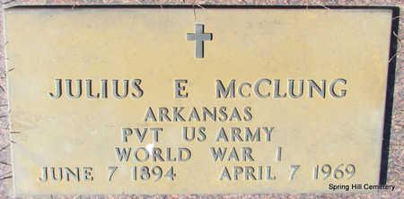 MCCLUNG (VETERAN WWI), JULIUS E - Faulkner County, Arkansas | JULIUS E MCCLUNG (VETERAN WWI) - Arkansas Gravestone Photos