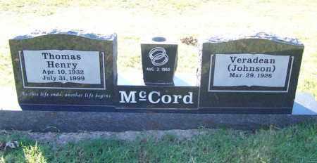 MCCORD, THOMAS HENRY - Faulkner County, Arkansas | THOMAS HENRY MCCORD - Arkansas Gravestone Photos