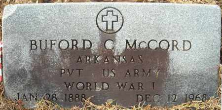 MCCORD (VETERAN WWI), BUFORD C - Faulkner County, Arkansas | BUFORD C MCCORD (VETERAN WWI) - Arkansas Gravestone Photos