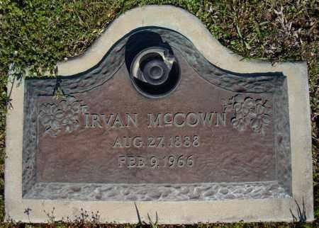 MCCOWN, IRVAN - Faulkner County, Arkansas | IRVAN MCCOWN - Arkansas Gravestone Photos