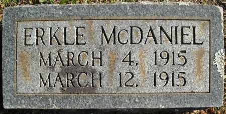 MCDANIEL, ERKLE - Faulkner County, Arkansas   ERKLE MCDANIEL - Arkansas Gravestone Photos