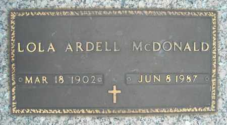 ARDELL MCDONALD, LOLA - Faulkner County, Arkansas | LOLA ARDELL MCDONALD - Arkansas Gravestone Photos