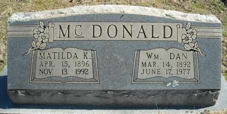MCDONALD, WILLIAM DAN - Faulkner County, Arkansas | WILLIAM DAN MCDONALD - Arkansas Gravestone Photos