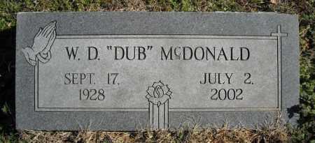 "MCDONALD, W.D. ""DUB"" - Faulkner County, Arkansas | W.D. ""DUB"" MCDONALD - Arkansas Gravestone Photos"