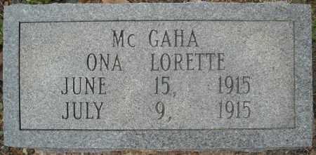 MCGAHA, ONA LORETTE - Faulkner County, Arkansas   ONA LORETTE MCGAHA - Arkansas Gravestone Photos