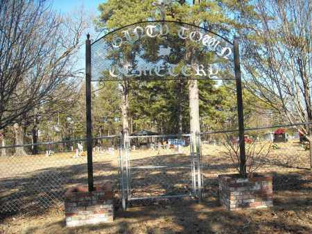 *MCGINTYTOWN ENTRANCE AND OVER,  - Faulkner County, Arkansas |  *MCGINTYTOWN ENTRANCE AND OVER - Arkansas Gravestone Photos