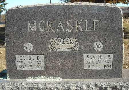 MCKASKLE, CALLIE D. - Faulkner County, Arkansas | CALLIE D. MCKASKLE - Arkansas Gravestone Photos