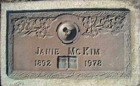 MCKIM, JANIE - Faulkner County, Arkansas   JANIE MCKIM - Arkansas Gravestone Photos