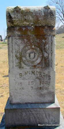 MCMORRIS, J.B. - Faulkner County, Arkansas   J.B. MCMORRIS - Arkansas Gravestone Photos