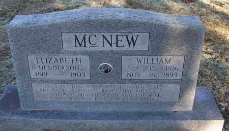 HENDERSON MCNEW, ELIZABETH - Faulkner County, Arkansas | ELIZABETH HENDERSON MCNEW - Arkansas Gravestone Photos