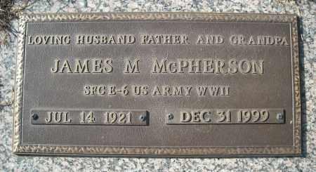 MCPHERSON (VETERAN WWII), JAMES M - Faulkner County, Arkansas   JAMES M MCPHERSON (VETERAN WWII) - Arkansas Gravestone Photos