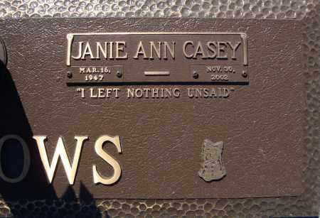CASEY MEADOWS, JANIE ANN - Faulkner County, Arkansas | JANIE ANN CASEY MEADOWS - Arkansas Gravestone Photos