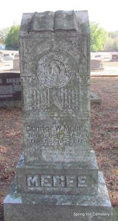 MEGEE, GEORGE W. - Faulkner County, Arkansas | GEORGE W. MEGEE - Arkansas Gravestone Photos