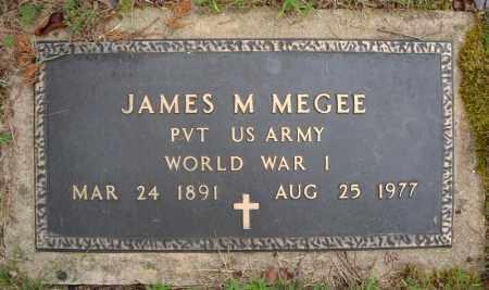MEGEE (VETERAN WWI), JAMES M - Faulkner County, Arkansas | JAMES M MEGEE (VETERAN WWI) - Arkansas Gravestone Photos