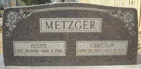 METZGER, CHRISTIAN - Faulkner County, Arkansas   CHRISTIAN METZGER - Arkansas Gravestone Photos