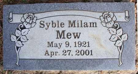 MILAM MEW, SYBLE - Faulkner County, Arkansas | SYBLE MILAM MEW - Arkansas Gravestone Photos