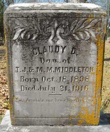 MIDDLETON, CLAUDY D. - Faulkner County, Arkansas | CLAUDY D. MIDDLETON - Arkansas Gravestone Photos