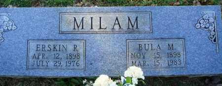 MILAM, ERSKIN R. - Faulkner County, Arkansas   ERSKIN R. MILAM - Arkansas Gravestone Photos