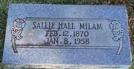 HALL MILAM, SALLIE - Faulkner County, Arkansas | SALLIE HALL MILAM - Arkansas Gravestone Photos