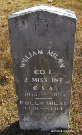 "NIXON MILAM, MARY P. ""POLLY"" - Faulkner County, Arkansas 