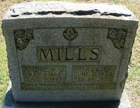 MILLS, SALLIE A. - Faulkner County, Arkansas   SALLIE A. MILLS - Arkansas Gravestone Photos