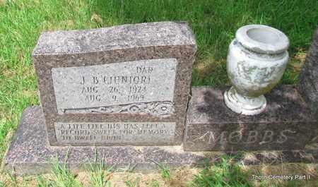 MOBBS, J B (JUNIOR) (CLOSE UP) - Faulkner County, Arkansas | J B (JUNIOR) (CLOSE UP) MOBBS - Arkansas Gravestone Photos