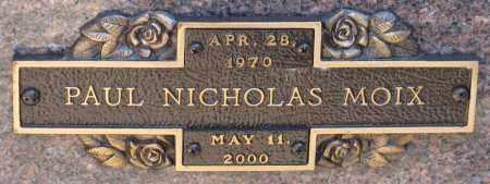 MOIX, PAUL NICHOLAS - Faulkner County, Arkansas | PAUL NICHOLAS MOIX - Arkansas Gravestone Photos