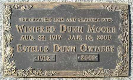 DUNN MOORE, WINIFRED - Faulkner County, Arkansas | WINIFRED DUNN MOORE - Arkansas Gravestone Photos