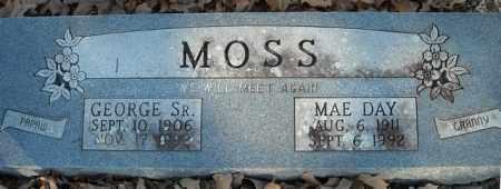 MOSS, SR., GEORGE - Faulkner County, Arkansas | GEORGE MOSS, SR. - Arkansas Gravestone Photos