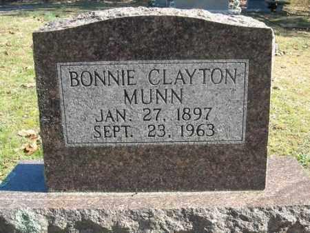 MUNN, BONNIE CLAYTON - Faulkner County, Arkansas   BONNIE CLAYTON MUNN - Arkansas Gravestone Photos
