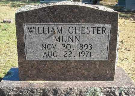 MUNN, WILLIAM CHESTER - Faulkner County, Arkansas   WILLIAM CHESTER MUNN - Arkansas Gravestone Photos