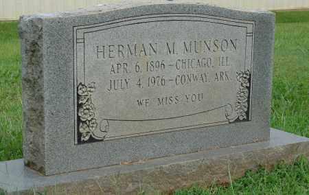 MUNSON, HERMAN M. - Faulkner County, Arkansas | HERMAN M. MUNSON - Arkansas Gravestone Photos