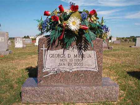MUSE, JR., GEORGE D. - Faulkner County, Arkansas | GEORGE D. MUSE, JR. - Arkansas Gravestone Photos