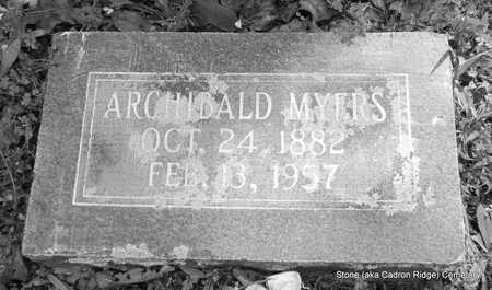 MYERS, ARCHIBALD - Faulkner County, Arkansas | ARCHIBALD MYERS - Arkansas Gravestone Photos