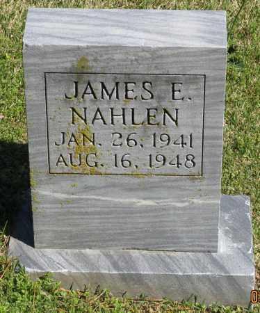 NAHLEN, JAMES E. - Faulkner County, Arkansas   JAMES E. NAHLEN - Arkansas Gravestone Photos