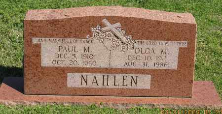 NAHLEN, PAUL M. - Faulkner County, Arkansas | PAUL M. NAHLEN - Arkansas Gravestone Photos
