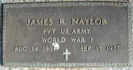 NAYLOR (VETERAN WWI), JAMES R (CLOSE UP) - Faulkner County, Arkansas | JAMES R (CLOSE UP) NAYLOR (VETERAN WWI) - Arkansas Gravestone Photos