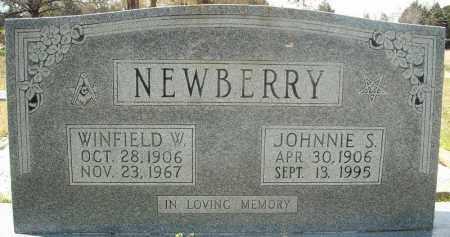 NEWBERRY, JOHNNIE S. - Faulkner County, Arkansas   JOHNNIE S. NEWBERRY - Arkansas Gravestone Photos