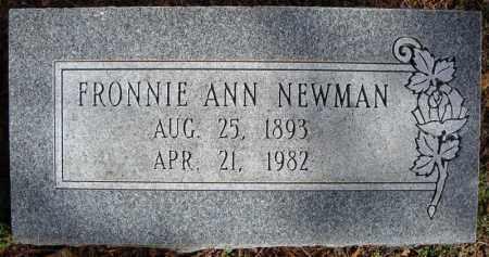 NEWMAN, FRONNIE ANN - Faulkner County, Arkansas   FRONNIE ANN NEWMAN - Arkansas Gravestone Photos