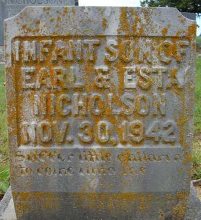 NICHOLSON, INFANT SON - Faulkner County, Arkansas | INFANT SON NICHOLSON - Arkansas Gravestone Photos