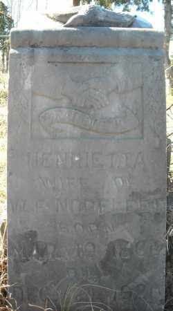 NORFLEET, HENRIETTA - Faulkner County, Arkansas   HENRIETTA NORFLEET - Arkansas Gravestone Photos