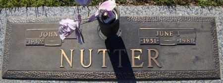 NUTTER, JUNE I. - Faulkner County, Arkansas   JUNE I. NUTTER - Arkansas Gravestone Photos