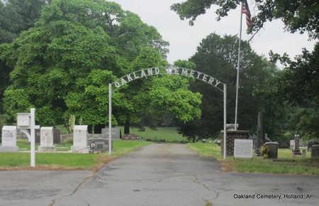 *OAKLAND CEMETERY ENTRANCE,  - Faulkner County, Arkansas    *OAKLAND CEMETERY ENTRANCE - Arkansas Gravestone Photos