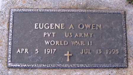 OWEN  (VETERAN WWII), EUGENE A - Faulkner County, Arkansas | EUGENE A OWEN  (VETERAN WWII) - Arkansas Gravestone Photos