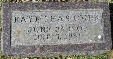 TEAS OWEN, FAYE - Faulkner County, Arkansas | FAYE TEAS OWEN - Arkansas Gravestone Photos